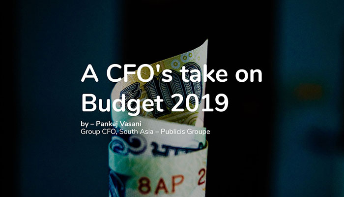 A CFO's take on Budget 2019
